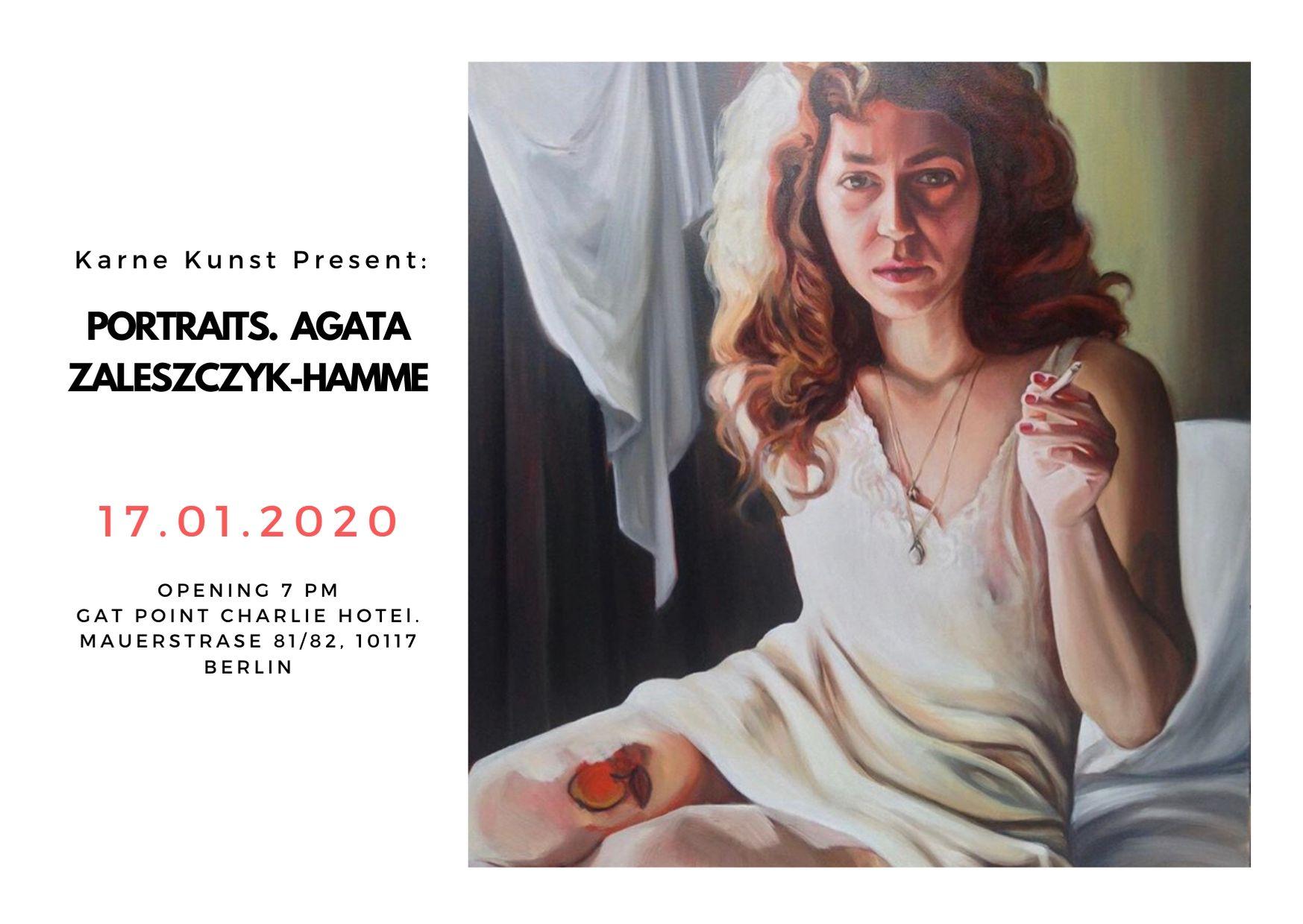 """Art exhibition """"Agata Zaleszczyk–Hamme Portraits"""""""